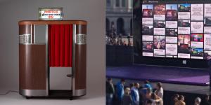 photo booth, photobooth, social wall, video slideshow